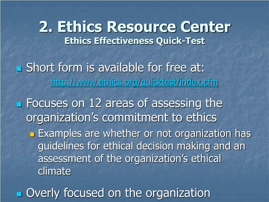 2. Ethics Resource Center