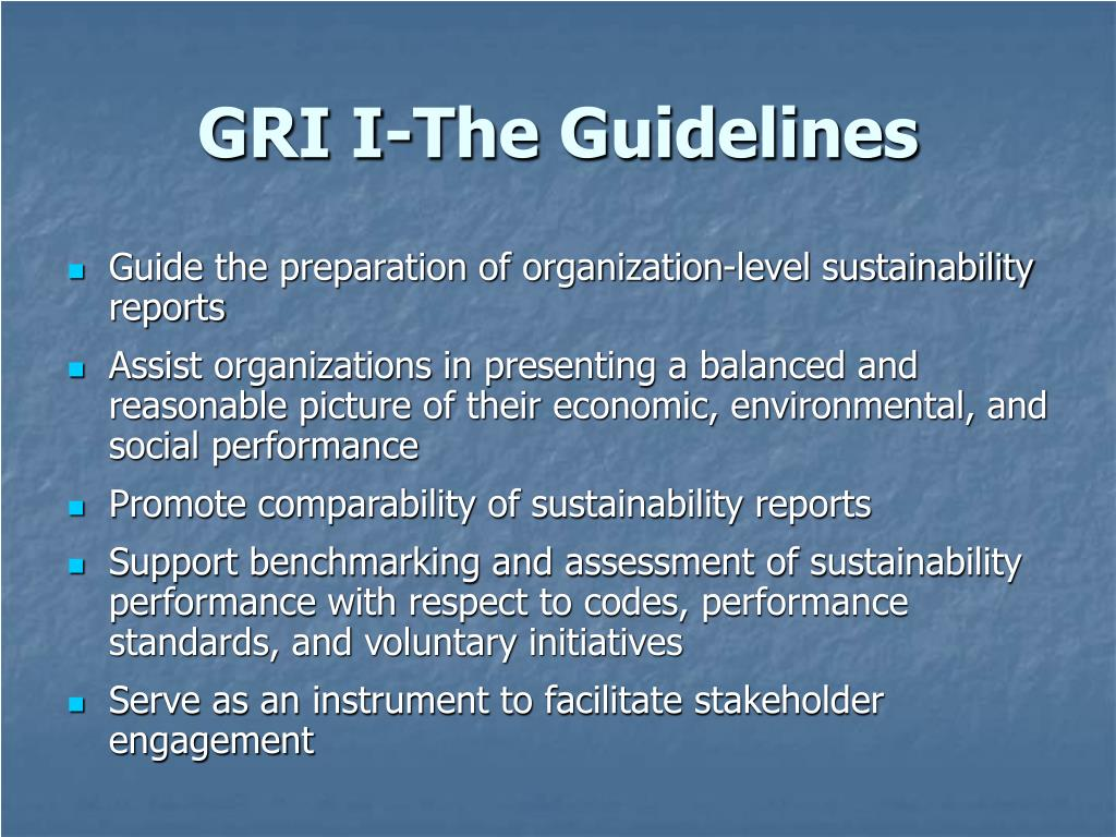 GRI I-The Guidelines