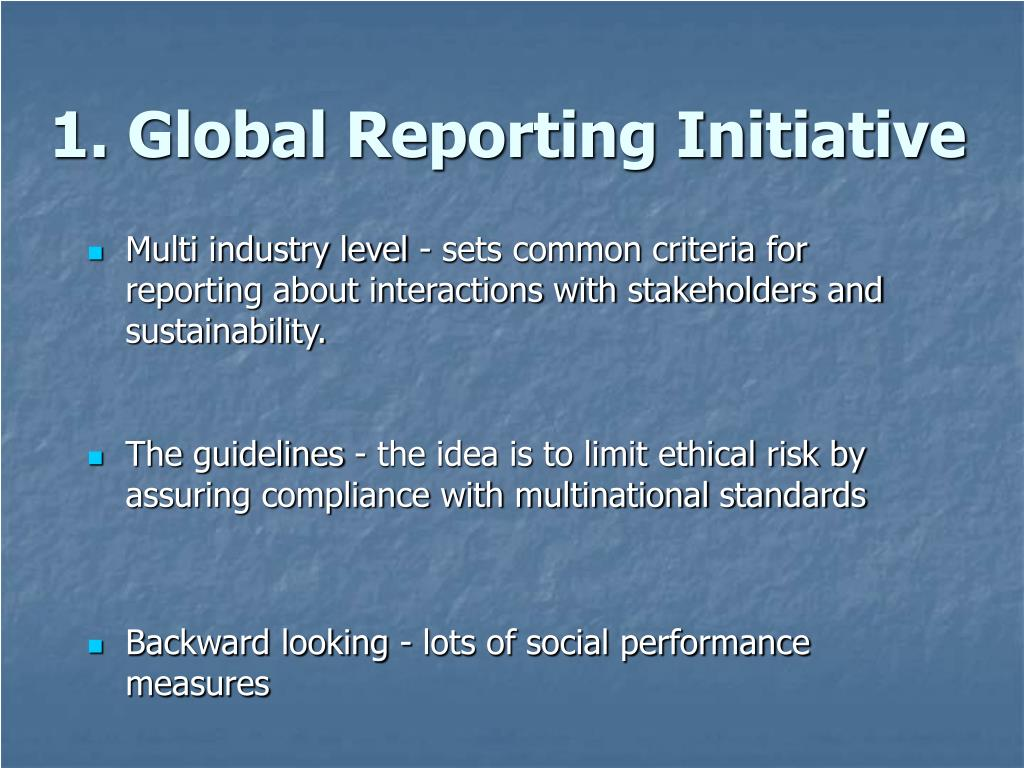 1. Global Reporting Initiative