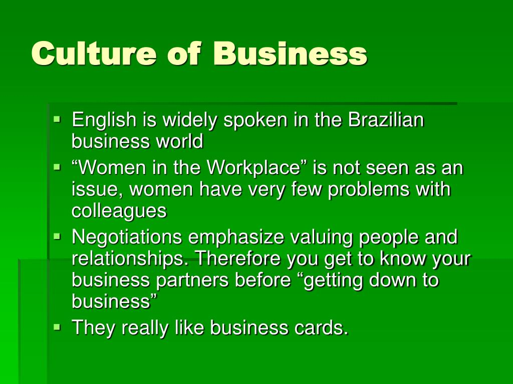 Culture of Business