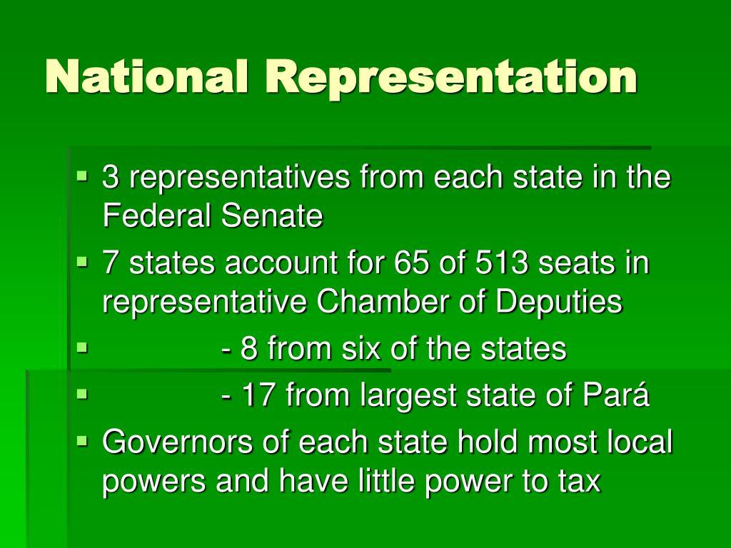 National Representation
