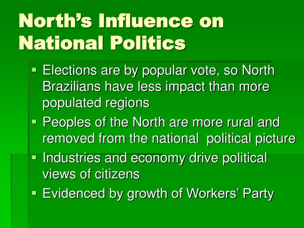 North's Influence on National Politics