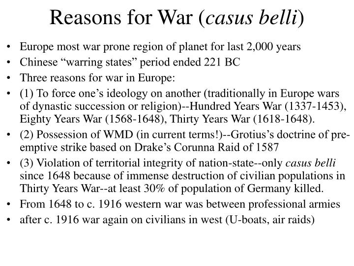 Reasons for War (