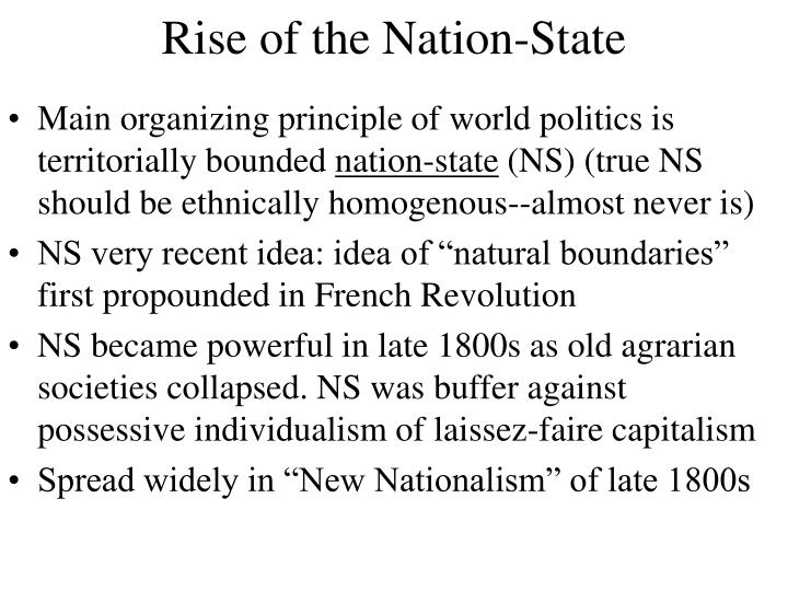 Rise of the Nation-State