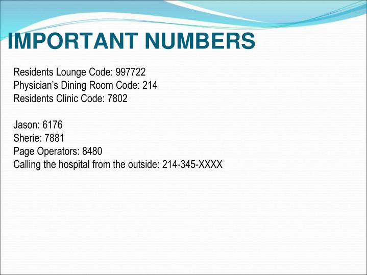 Residents Lounge Code: 997722