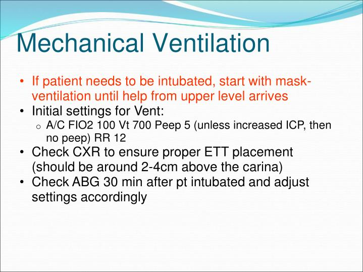If patient needs to be intubated, start with mask-ventilation until help from upper level arrives