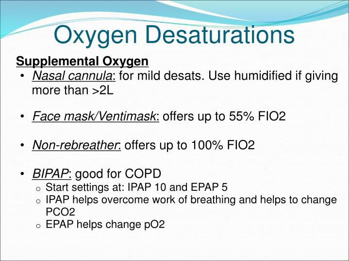 Supplemental Oxygen