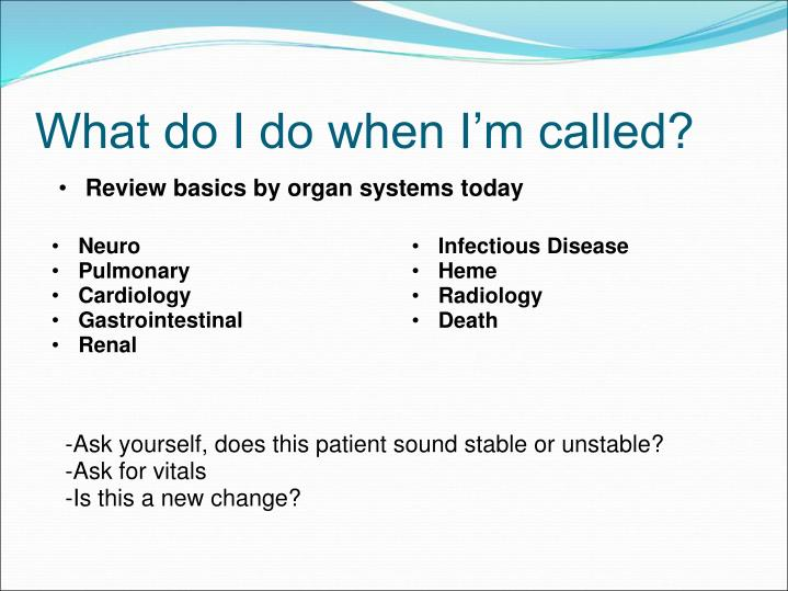 Review basics by organ systems today