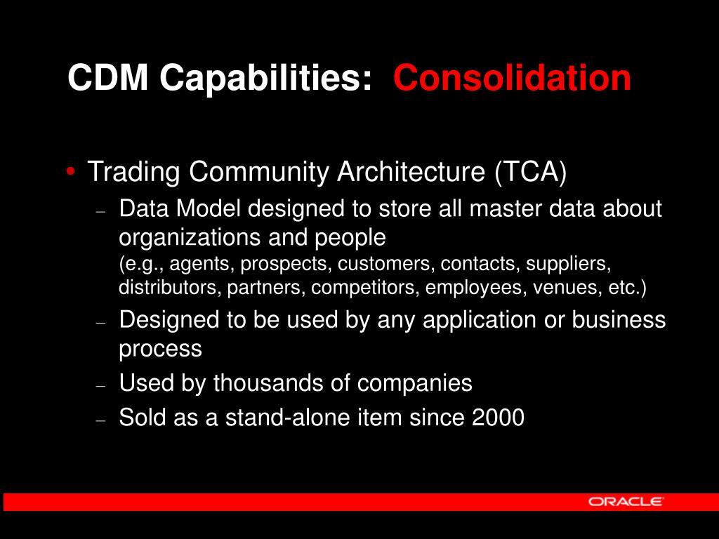 CDM Capabilities: