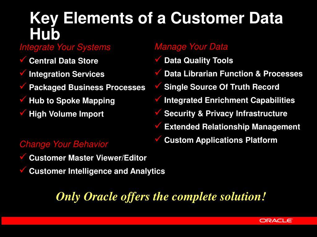 Key Elements of a Customer Data Hub