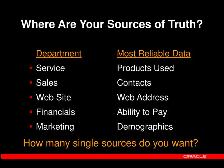 Where are your sources of truth