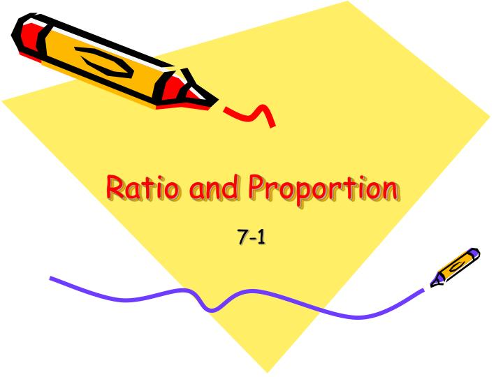 ratio and proportion