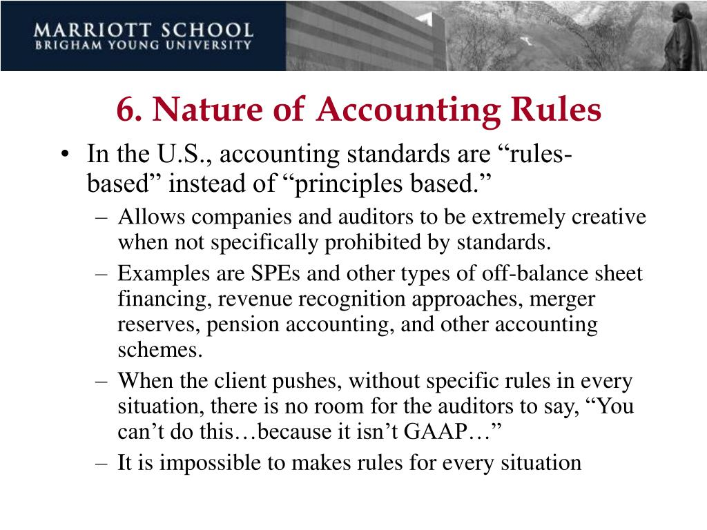 6. Nature of Accounting Rules