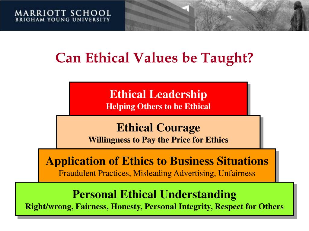 Can Ethical Values be Taught?
