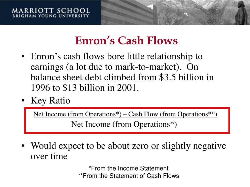 Enron's Cash Flows