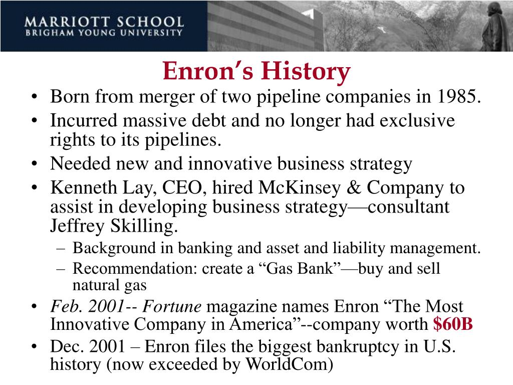 Enron's History