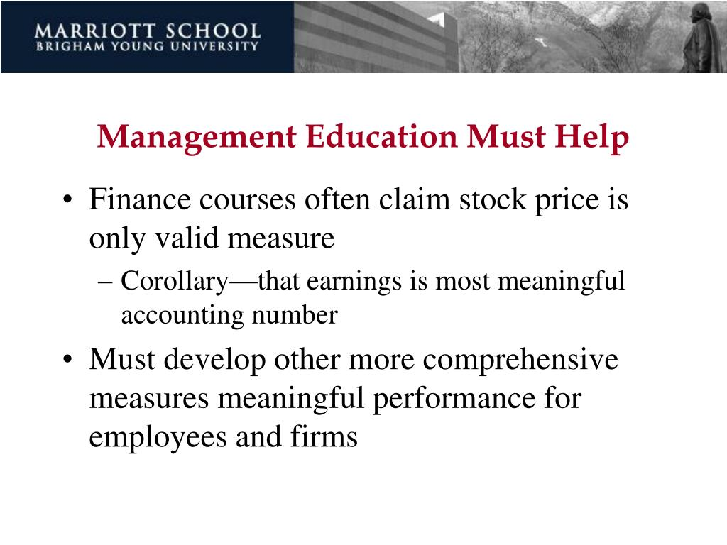 Management Education Must Help
