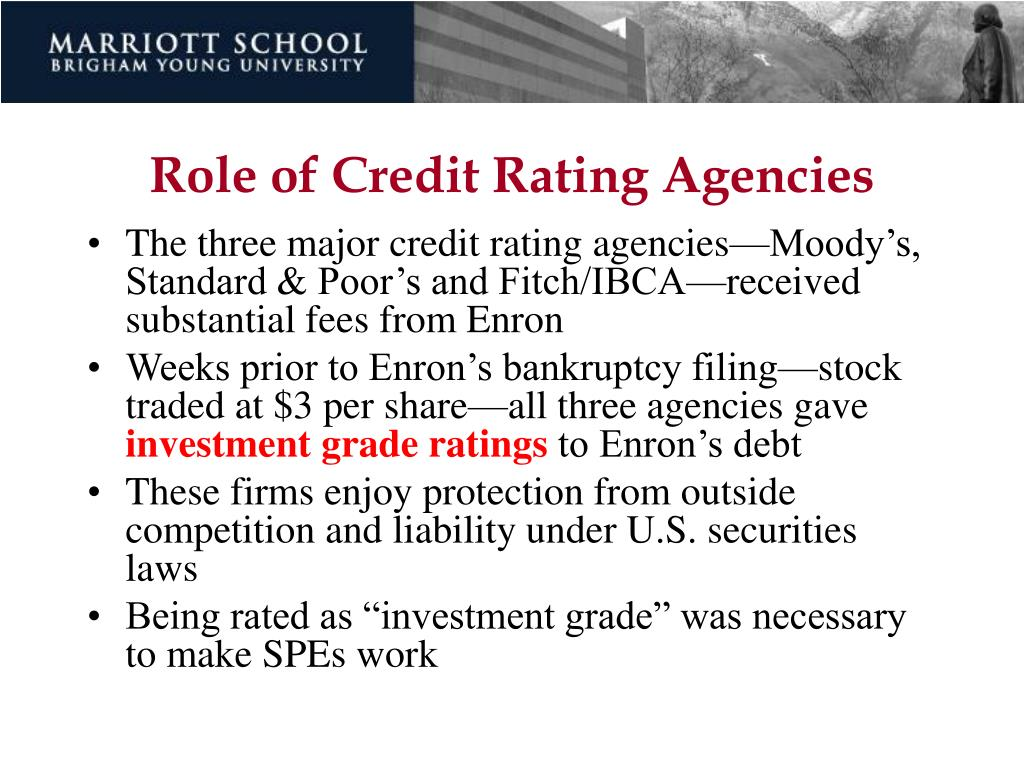Role of Credit Rating Agencies