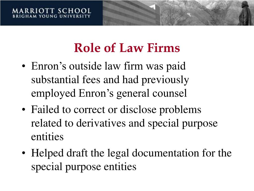 Role of Law Firms