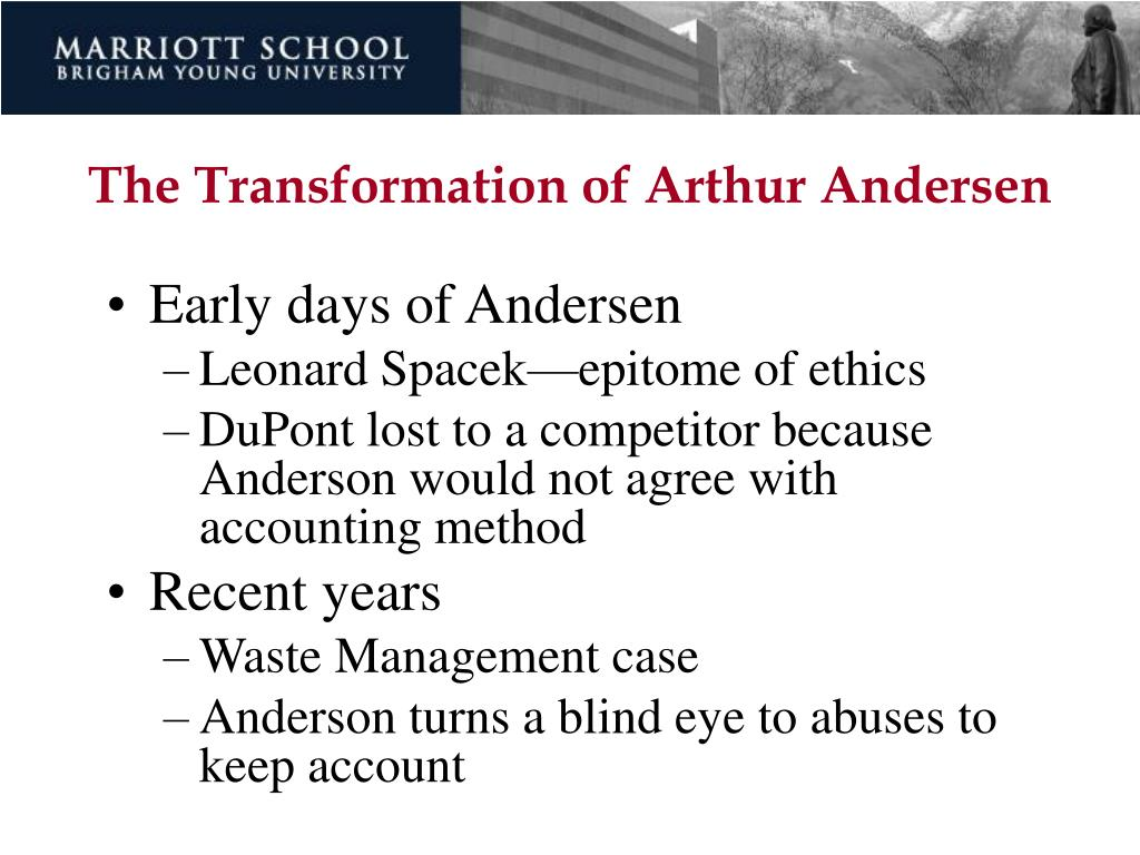 The Transformation of Arthur Andersen
