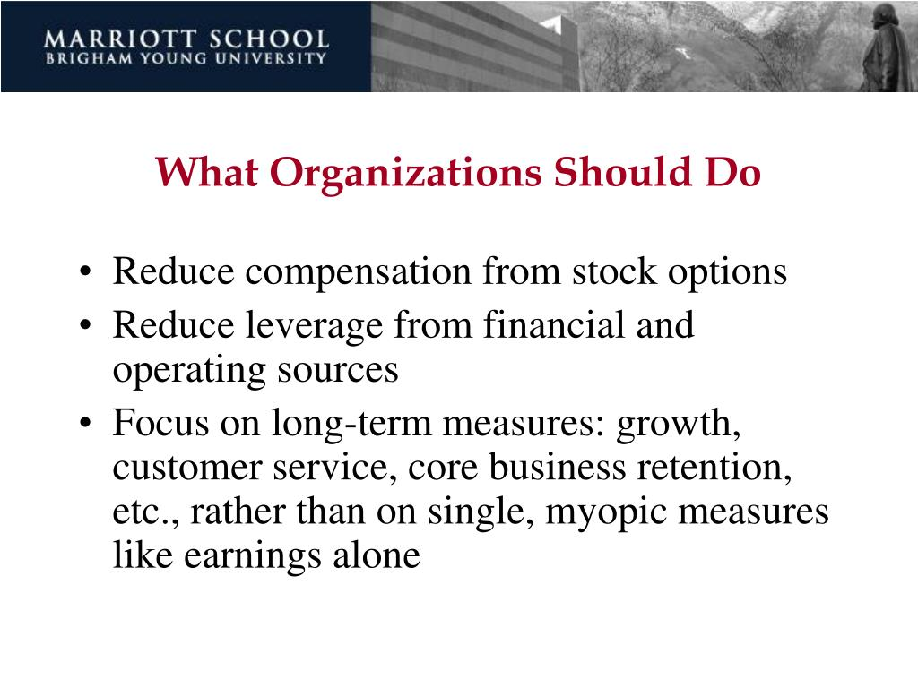 What Organizations Should Do