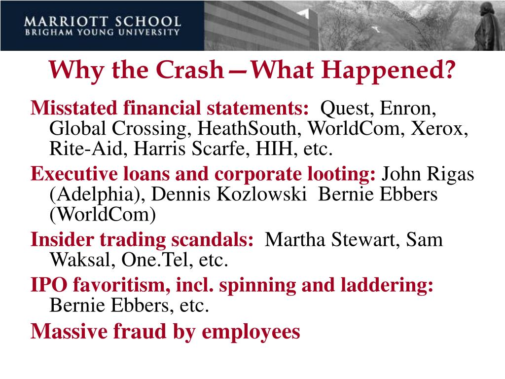 Why the Crash—What Happened?