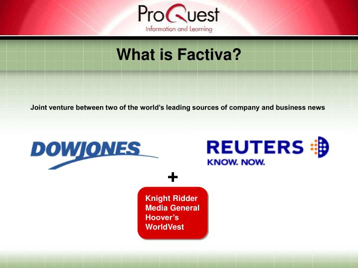What is factiva