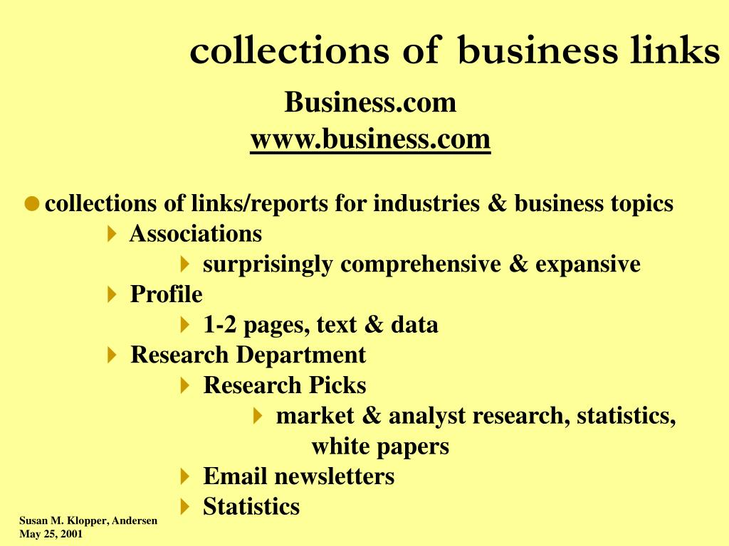 collections of business links