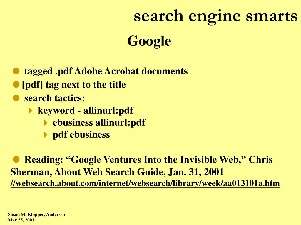 search engine smarts