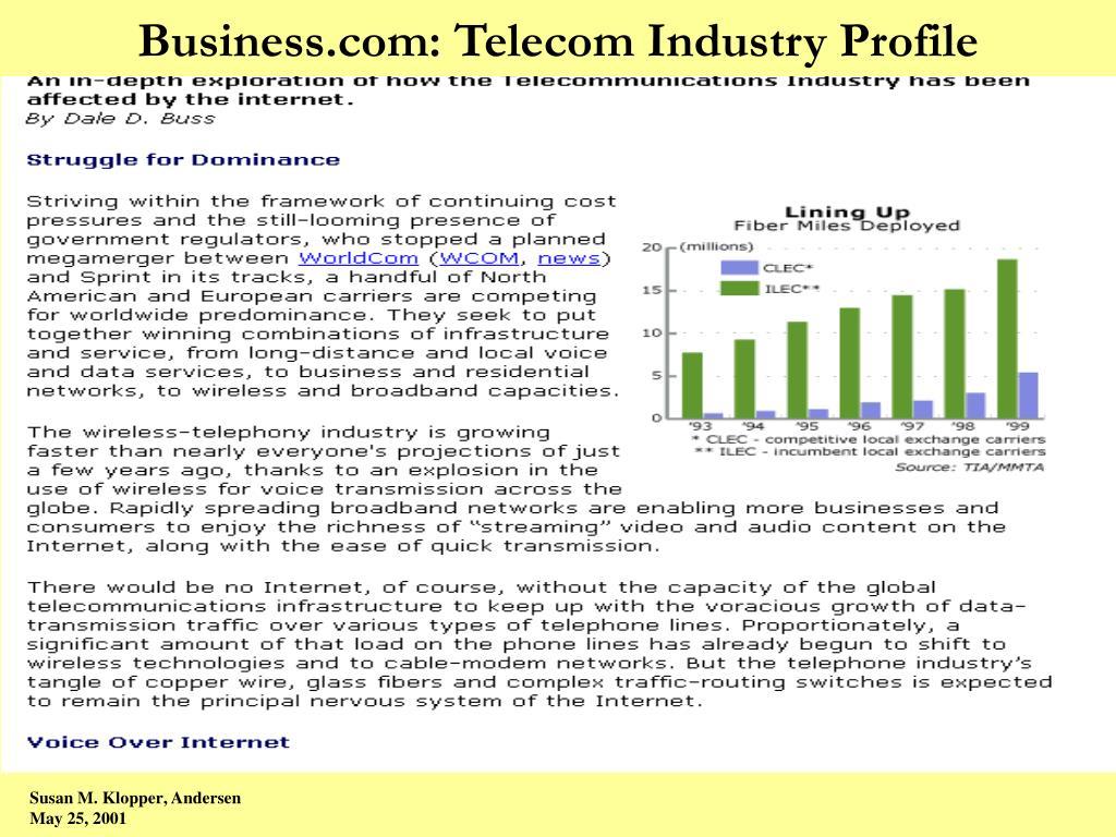 Business.com: Telecom Industry Profile