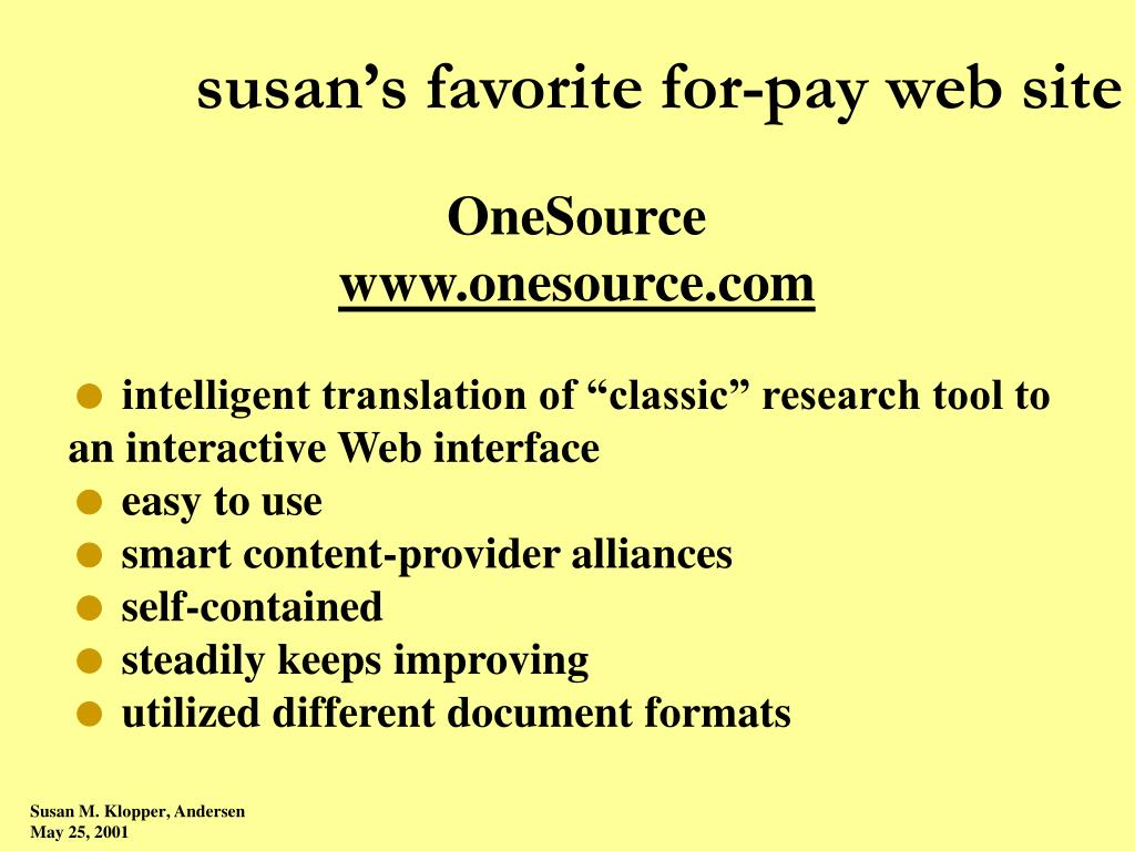 susan's favorite for-pay web site