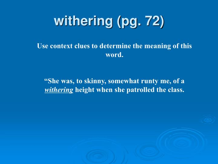 withering (pg. 72)