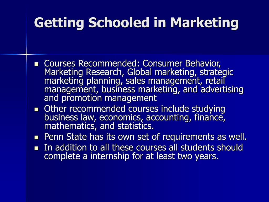 Getting Schooled in Marketing