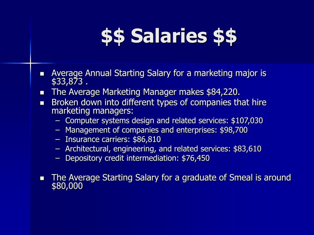 $$ Salaries $$
