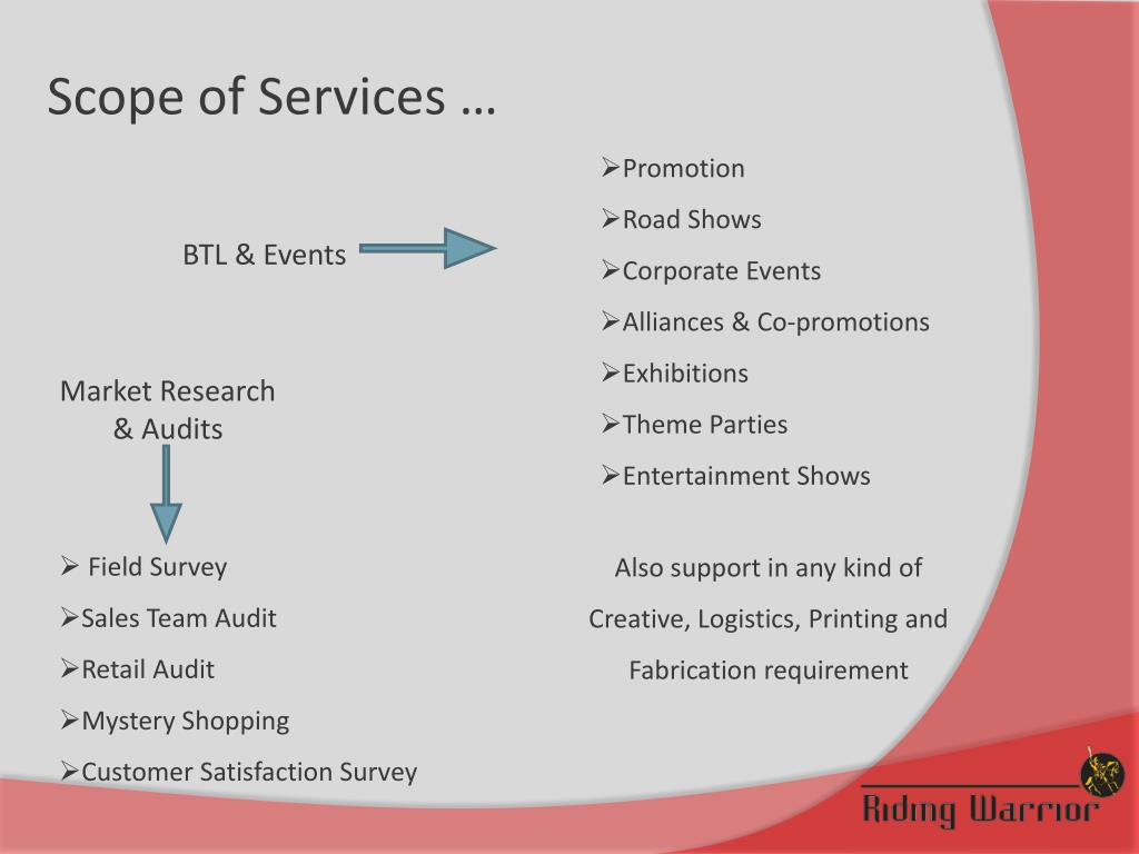 Scope of Services …