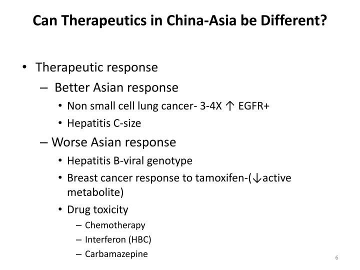 Can Therapeutics in China-Asia be Different?
