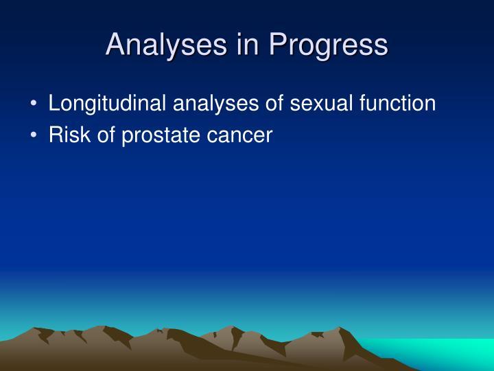 Analyses in Progress
