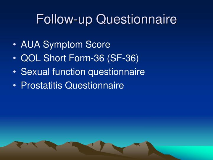 Follow-up Questionnaire