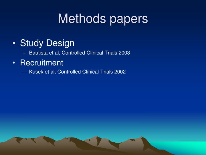 Methods papers