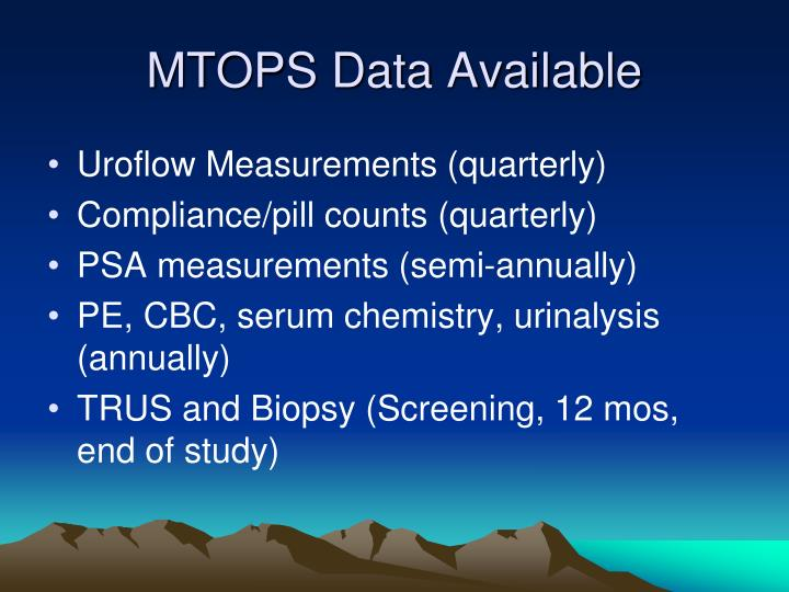 MTOPS Data Available