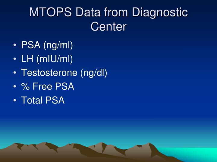 MTOPS Data from Diagnostic Center