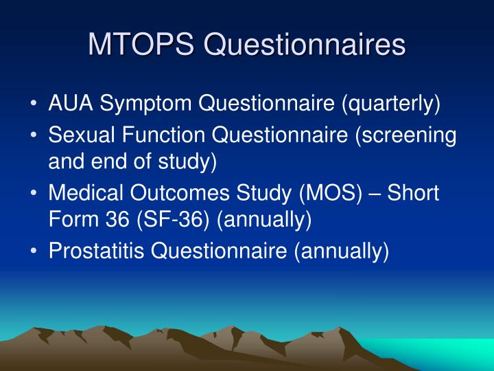 MTOPS Questionnaires