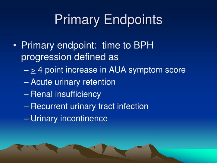 Primary Endpoints