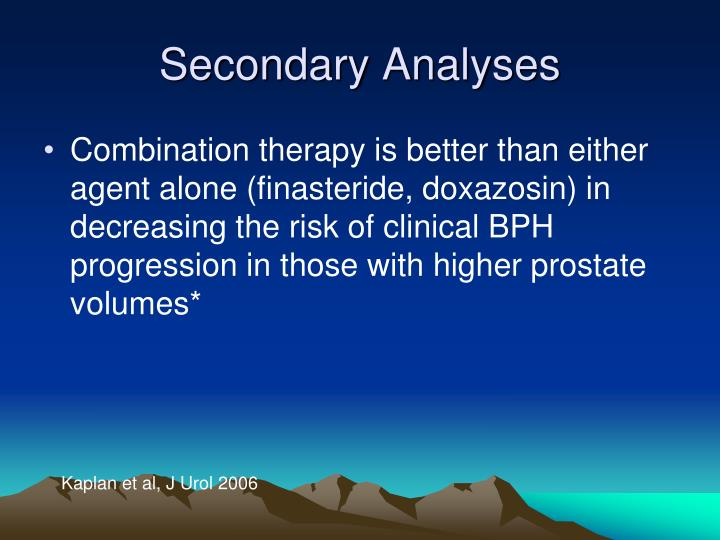 Secondary Analyses