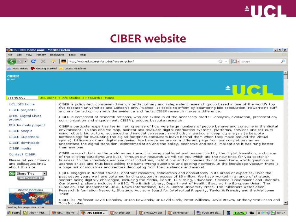 CIBER website