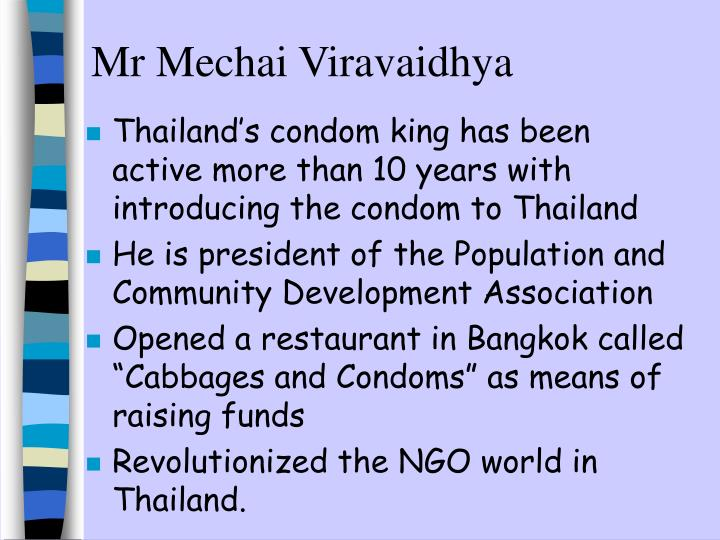 Mr Mechai Viravaidhya