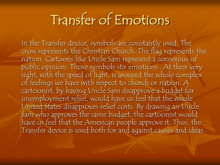 Transfer of Emotions