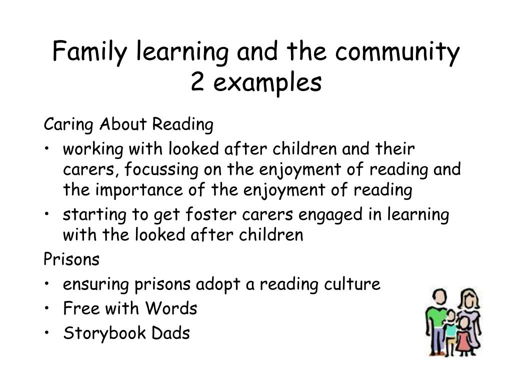 Family learning and the community