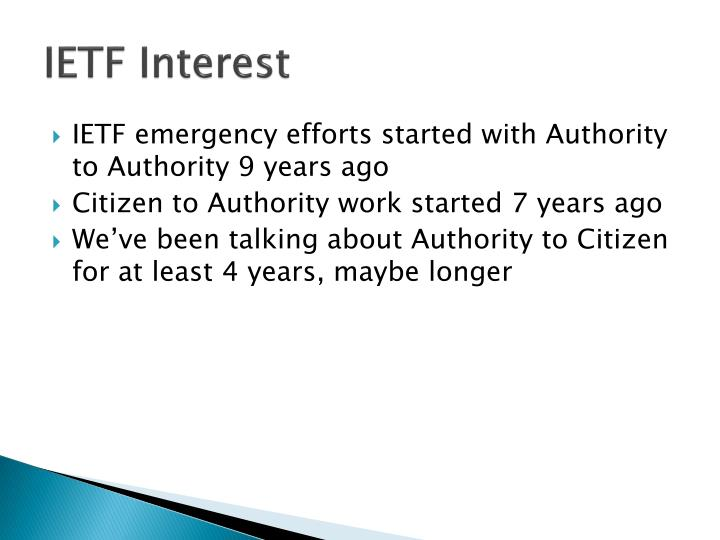 IETF Interest