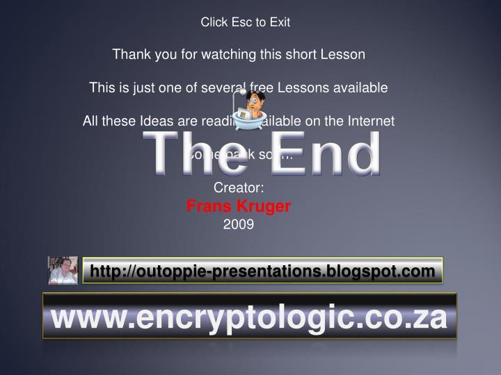 Click Esc to Exit